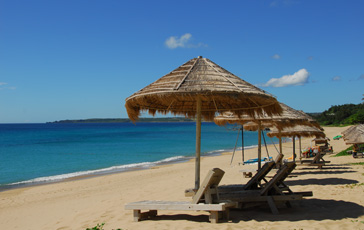 The Beautiful Beach Of The Hotel Tomoko,a main characer, lived In In Cape NO.7